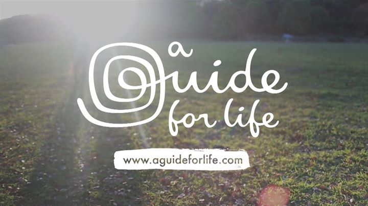 A Guide for Life White Logo