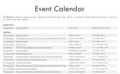 A Guide for Life Event Calendar